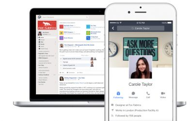 Facebook Workplace social  per aziende